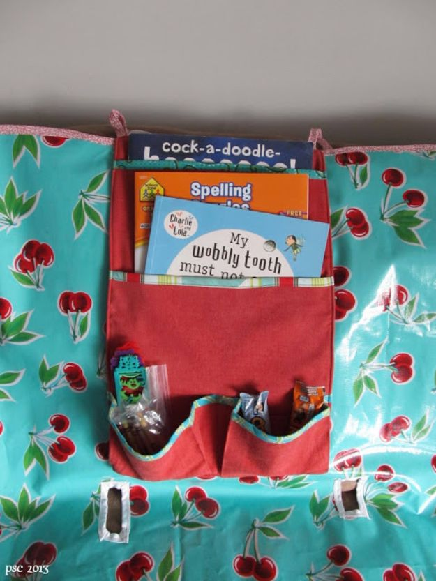 DIY Sewing Projects for the Home - Travel Organizer For the Car - Easy DIY Christmas Gifts and Ideas for Making Kitchen, Bedroom and Bathroom Decor - Free Step by Step Tutorial to Sew
