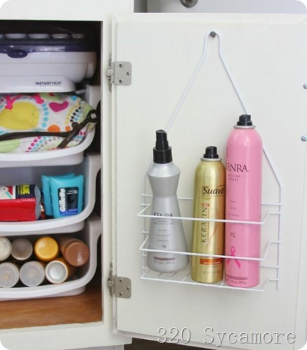 Dollar Store Organizing Ideas - Under The Sink Organization - Easy Organization Projects from Dollar Tree and Dollar Stores - Quick Closet Makeovers, Pantry Storage, Shoe Box Projects, Tension Rods, Car and Household Cleaning - Hacks and Tips for Organizing on a Budget - Cheap Idea for Reducing Clutter around the House, in the Kitchen and Bedroom http://diyjoy.com/dollar-store-organizing-ideas
