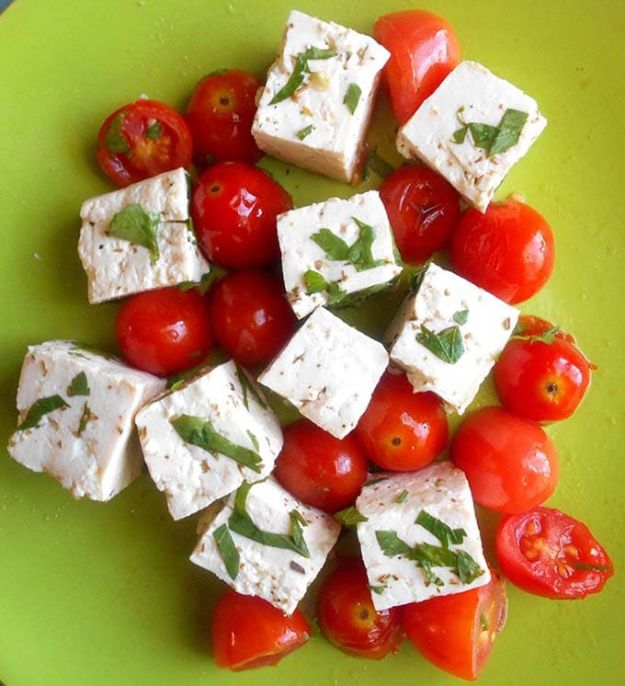 Best Recipes for the Cheese Lover - Vegan Feta Cheese - Easy Recipe Ideas With Cheese - Homemade Appetizers, Dips, Dinners, Snacks, Pasta Dishes, Healthy Lunches and Soups Made With Your Favorite Cheeses - Ricotta, Cheddar, Swiss, Parmesan, Goat Chevre, Mozzarella and Feta Ideas - Grilled, Healthy, Vegan and Vegetarian #cheeserecipes #recipes #recipeideas #cheese #cheeserecipe http://diyjoy.com/best-recipes-cheese-lover