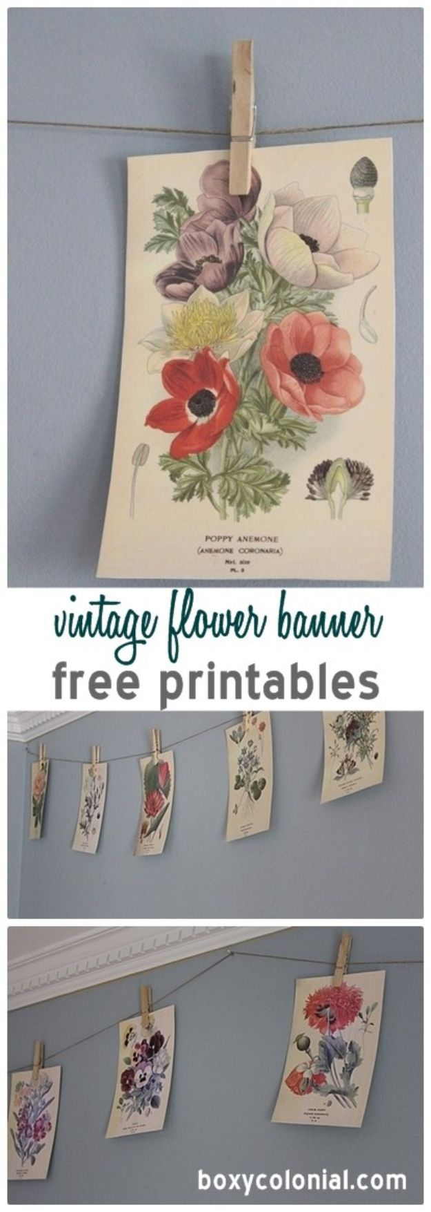 Free Printables For Your Walls - Vintage Flower banner Free Printables - Easy Canvas Ideas With Free Downloadable Artwork and Quote Sayings - Best Free Prints for Wall Art and Picture to Print for Home and Bedroom Decor - Signs for the Home, Organization, Office - Quotes for Bedroom and Kitchens, Vintage Bathroom Pictures - Downloadable Printable for Kids - DIY and Crafts by DIY JOY #wallart #freeprintables #diyideas #diyart #walldecor #diyhomedecor #freeprintables