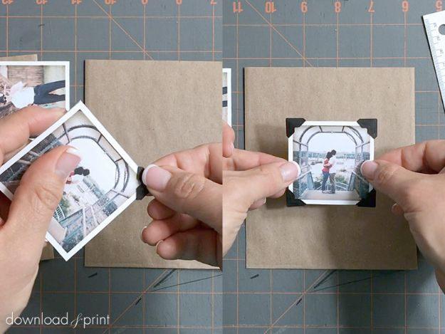 DIY Photo Albums - Vintage Photo Album - Easy DIY Christmas Gifts for Grandparents, Friends, Him or Her, Mom and Dad - Creative Ideas for Making Wall Art and Home Decor With Photos