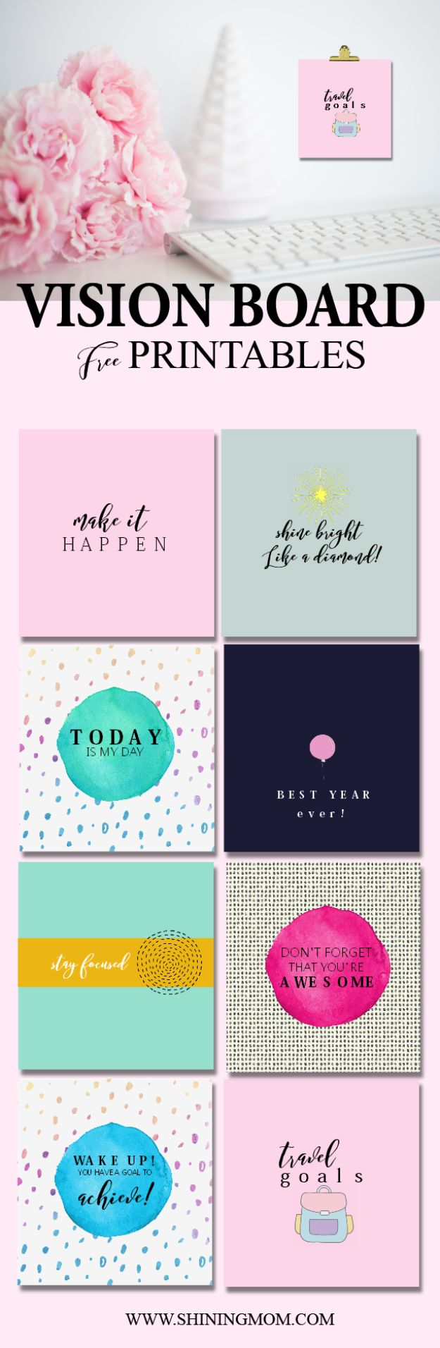 Free Printables For Your Walls - Vision Board Free Printable - Easy Canvas Ideas With Free Downloadable Artwork and Quote Sayings - Best Free Prints for Wall Art and Picture to Print for Home and Bedroom Decor - Signs for the Home, Organization, Office - Quotes for Bedroom and Kitchens, Vintage Bathroom Pictures - Downloadable Printable for Kids - DIY and Crafts by DIY JOY #wallart #freeprintables #diyideas #diyart #walldecor #diyhomedecor #freeprintables