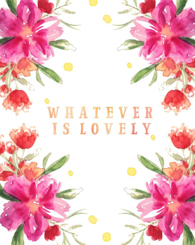 Free Printables For Your Walls - Whatever Is Lovely - Easy Canvas Ideas With Free Downloadable Artwork and Quote Sayings - Best Free Prints for Wall Art and Picture to Print for Home and Bedroom Decor - Signs for the Home, Organization, Office - Quotes for Bedroom and Kitchens, Vintage Bathroom Pictures - Downloadable Printable for Kids - DIY and Crafts by DIY JOY #wallart #freeprintables #diyideas #diyart #walldecor #diyhomedecor #freeprintables