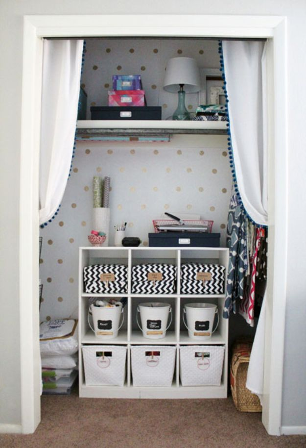 Craft Room Organization Ideas - Wow Factor Craft Closet - DIY Dollar Store Projects for Crafts - Budget Ways to Declutter While Organizing Supplies - Shelves, IKEA Hacks, Small Space Ideas