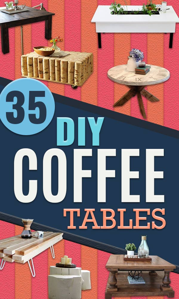 DIY Coffee Tables - Easy Do It Yourself Furniture Ideas for The Living Room Table - Cool Projects for Making a Coffee Table With Crates, Boxes, Stone, Industrial Pipe, Tile, Pallets, Old Doors, Windows and Repurposed Wood Planks - Rustic Farmhouse Home Decor, Modern Decorating Ideas, Simply Shabby Chic and All White Looks for Minimalist Interiors #coffeetables #diy #homedecor #diyhomedecor http://diyjoy.com/diy-coffee-table-ideas
