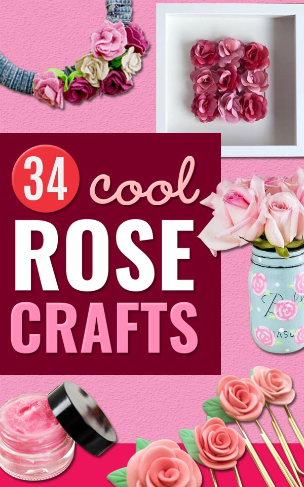 Rose Crafts - Easy Craft Projects With Roses - Paper Flowers, Quilt Patterns, DIY Rose Art for Kids - Dried and Real Roses for Wall Art and Do It Yourself Home Decor - Mothers Day Gift Ideas - Fake Rose Arrangements That Look Amazing - Cute Centerrpieces and Crafty DIY Gifts With A Rose #diyideas #diygifts #roses #rosecrafts #crafts #giftsforher http://diyjoy.com/rose-crafts
