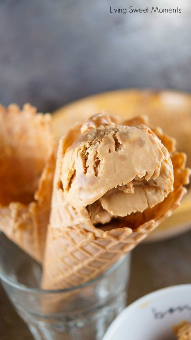 Homemade Ice Cream Recipes - 2-Ingredient Dulce De Leche Ice Cream - How To Make Homemade Ice Cream At Home - Recipe Ideas for Making Vanilla, Chocolate, Strawberry, Caramel Ice Creams - Step by Step Tutorials for Easy Mixes and Dairy Free Options - Cuisinart and Ice Cream Machine, No Churn, Mix in A Bag and Mason Jar - Healthy and Keto Diet Friendly #recipes #icecream