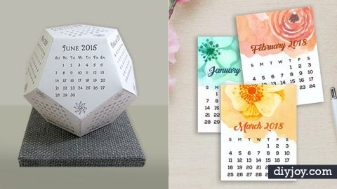 33 DIY Calendars To Start The New Year Off Right | DIY Joy Projects and Crafts Ideas