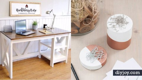 34 DIY Home Office Furniture and Decor Projects | DIY Joy Projects and Crafts Ideas
