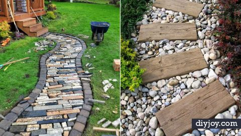 34 DIY Walkways For A Perfect Path | DIY Joy Projects and Crafts Ideas