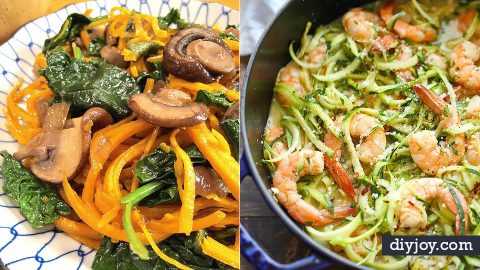 35 Veggie Noodle Recipes For A Healthy Low Carb Meal | DIY Joy Projects and Crafts Ideas