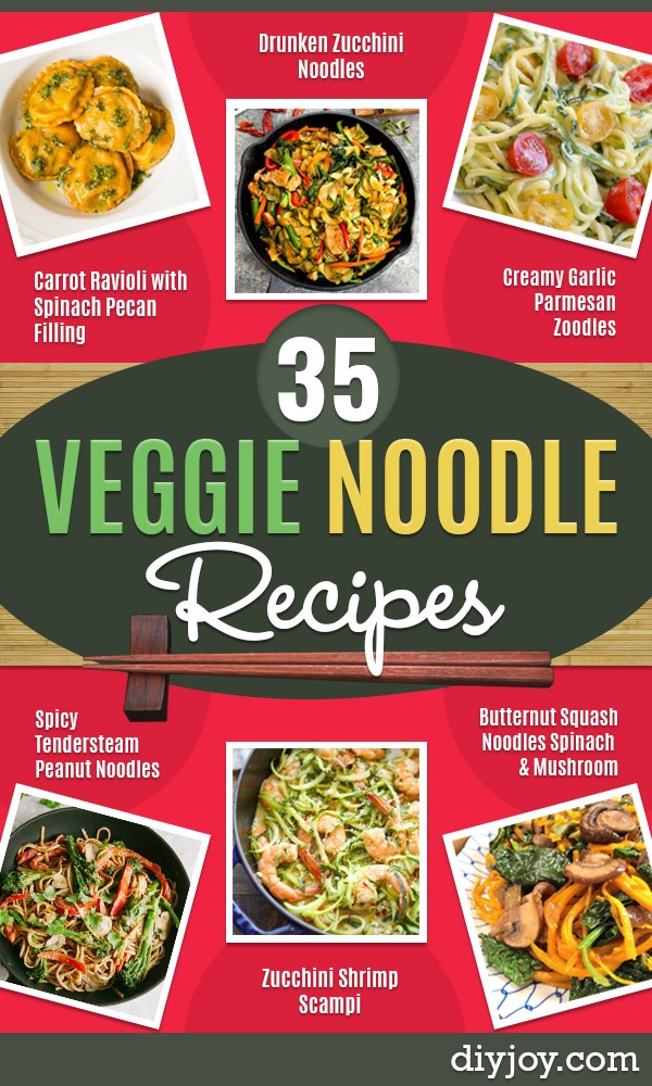 Veggie Noodle Recipes - How to Cook With Veggie Noodles - Healthy Pasta Recipe Ideas - How to Make Veggie Noodles With Carrots and Zucchini - Vegan, Vegetarian , Keto and Low Carb Dishes for Your Diet - Meatballs, Chicken, Cheese, Asian Stir Fry, Salad and Raw Preparations #veggienoodles #recipes #keto #lowcarb #ketorecipes http://diyjoy.com/veggie-noodle-recipes