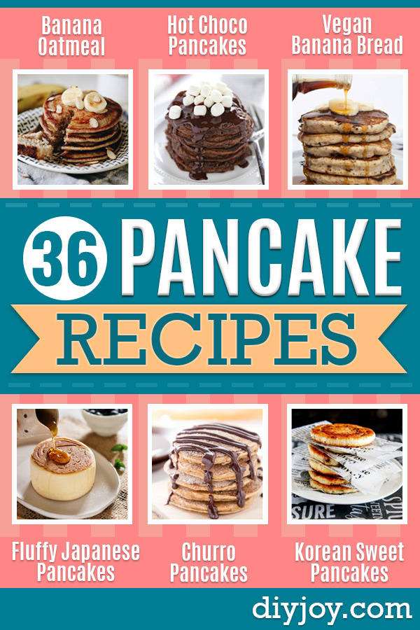 Best Pancake Recipes - Homemade Pancakes With Banana, Berries, Fruit and Maple Syrup - How To Make Pancake Mix at Home - Gluten Free, Low Fat and Healthy Recipes - Breakfast and Brunch Recipe Ideas - Silver Dollar, Buttermilk, Make Ahead and Quick Versions With Strawberries and Blueberries #pancakes #pancakerecipes #recipeideas #breakfast #breakfastrecipes http://diyjoy.com/pancake-recipes