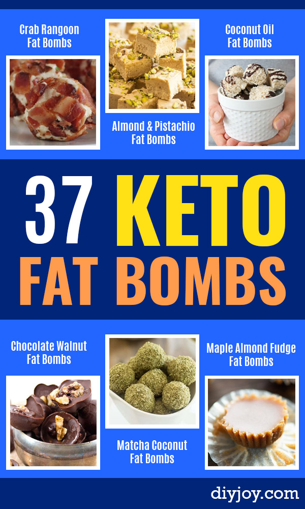Keto Fat Bombs and Best Ketogenic Recipe Ideas to Make At Home - Easy Recipes With Peanut Butter, Cream Cheese, Chocolate, Coconut Oil, Coffee - No Bake Low Carb Fat Bomb and Snacks for Keto Diets - Simple Dairy Free and Vegan Variations http://diyjoy.com/keto-fat-bombs