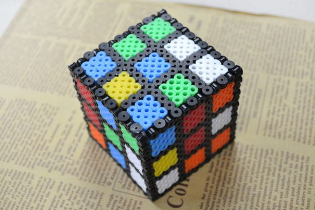 DIY perler bead crafts - 3D Perler Bead - Easy Crafts With Perler Beads - Cute Accessories and Homemade Decor That Make Creative DIY Gifts - Plastic Melted Beads Make Cool Art for Walls, Jewelry and Things To Make When You are Bored #diy #crafts