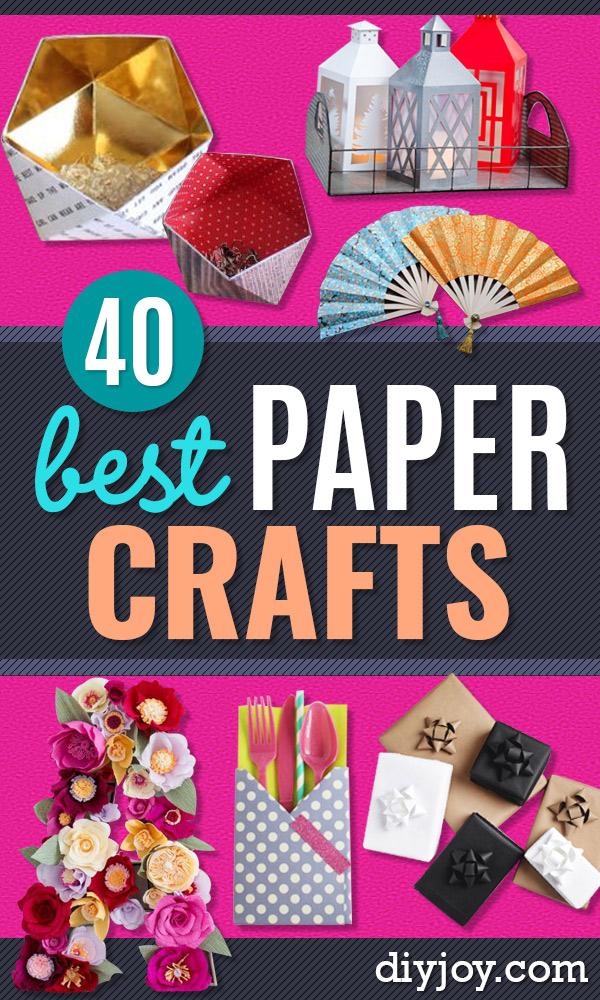 Paper Crafts DIY - Papercraft Tutorials and Easy Projects for Make for Decoration and Gift IDeas - Origami, Paper Flowers, Heart Decoration, Scrapbook Notions, Wall Art, Christmas Cards, Step by Step Tutorials for Crafts Made From Papers #crafts #paper