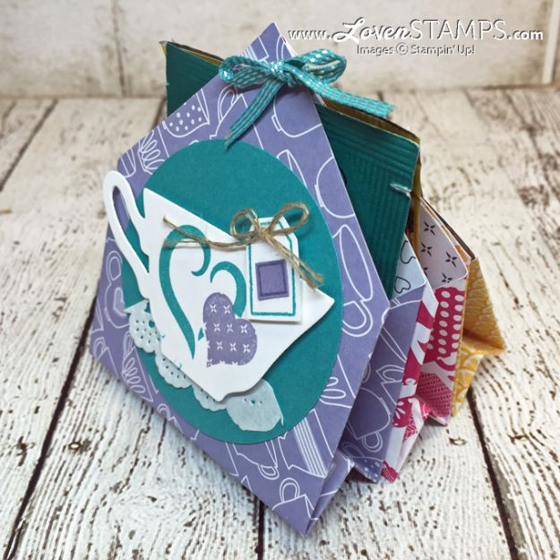 Paper Crafts DIY - 6 Pocket Treats & Tea Bag Holder - Papercraft Tutorials and Easy Projects for Make for Decoration and Gift IDeas - Origami, Paper Flowers, Heart Decoration, Scrapbook Notions, Wall Art, Christmas Cards, Step by Step Tutorials for Crafts Made From Papers http://diyjoy.com/paper-crafts-diy