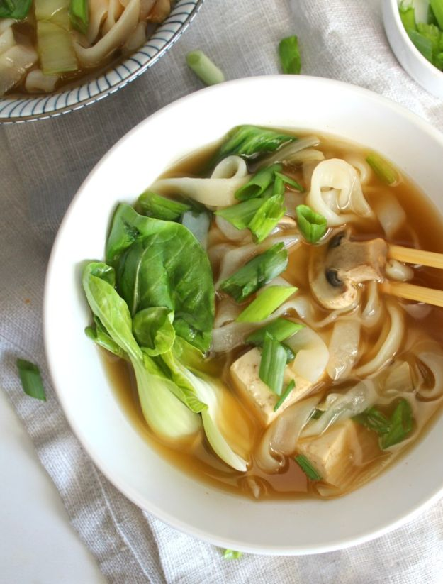Soup Recipes - Asian Vegetable Noodle Soup - Healthy Soups and Recipe Ideas - Easy Slow Cooker Dishes, Soup Recipe for Chicken, Sausage, With Ground Beef, Potato, Vegetarian, Mexican and Asian Varieties - Creamy Soups for Winter and Fall - Low Carb and Keto Meals - Quick Bean Soup and Copycat Recipes #soup #recipes