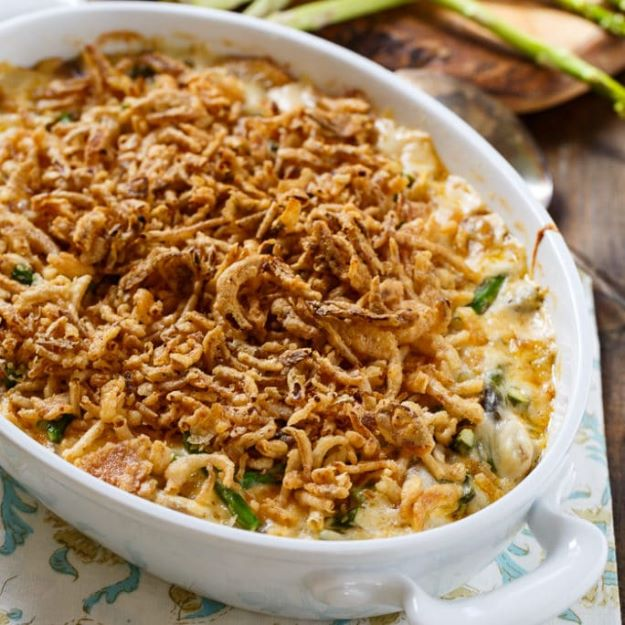 Asparagus Recipes - Asparagus Casserole - DIY Asparagus Recipe Ideas for Homemade Soups, Sides and Salads - Easy Tutorials for Roasted, Sauteed, Steamed, Baked, Grilled and Pureed Asparagus - Party Foods, Quick Dinners, Dishes With Cheese, Vegetarian and Vegan Options - Healthy Recipes With Step by Step Instructions http://diyjoy.com/asparagus-recipes