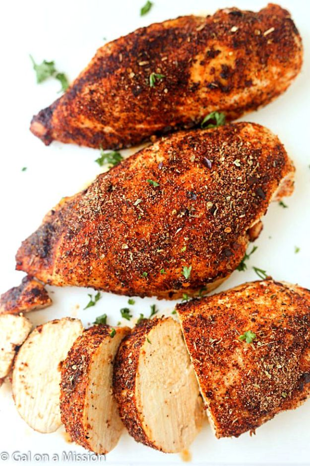 Easy Chicken Recipes Healthy - Baked Cajun Chicken Breasts - Quick Baked Chicken Recipe - Spicy Chicken Recipes for Dinner