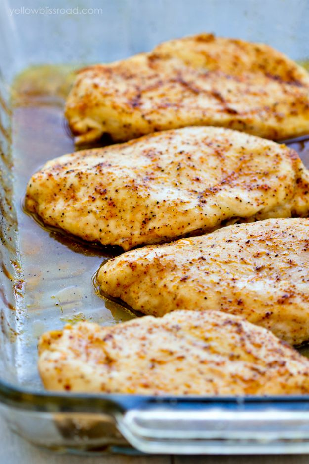 Chicken Breast Recipes - Baked Chicken Breasts Recipe- Healthy, Easy Chicken Recipes for Dinner, Lunch, and Quick Weeknight Meal Ideas