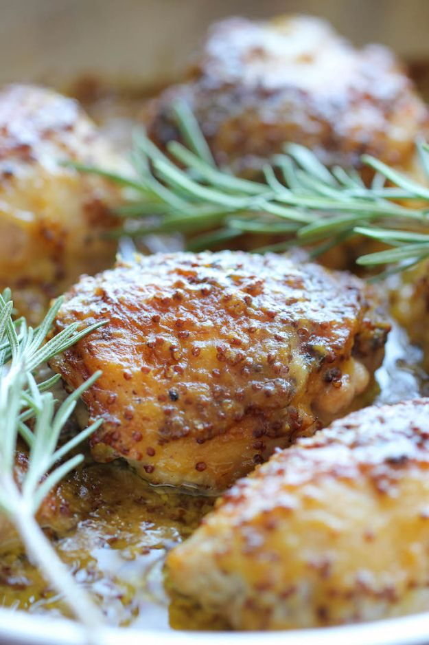 Easy Healthy Chicken Recipes - Baked Honey Mustard Chicken - Lunch and Dinner Ideas, Party Foods and Casseroles, Idea for the Grill and Salads- Chicken Breast, Baked, Roastedf and Grilled Chicken - Add Shrimp, Penne Pasta, Beef, Sausage - Glazed, Barbecue and Instant Pot, Crockpot Chicken Dishes and Recipe Ideas http://diyjoy.com/easy-healthy-chicken-recipes