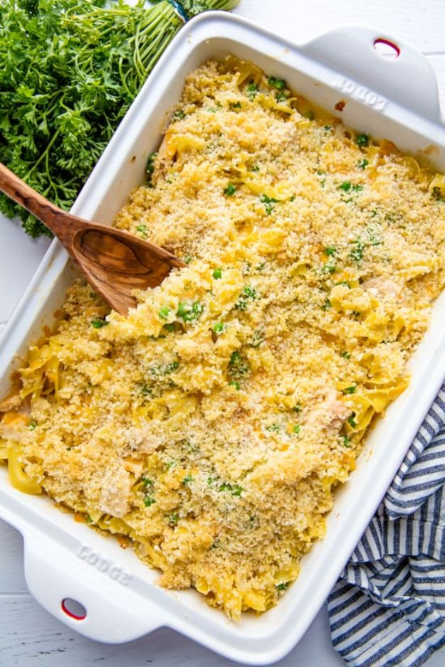 Best Casserole Recipes - Best Tuna Casserole - Healthy One Pan Meals Made With Chicken, Hamburger, Potato, Pasta Noodles and Vegetable - Quick Casseroles Kids Like - Breakfast, Lunch and Dinner Options - Mexican, Italian and Homestyle Favorites - Party Foods for A Crowd and Potluck Dishes #recipes #casseroles
