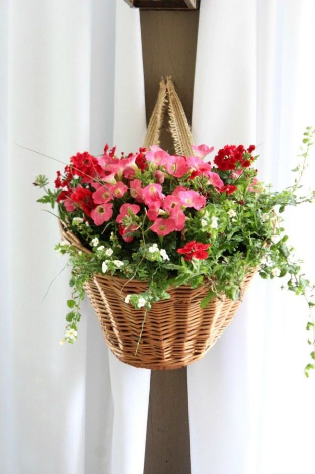 Thrift Store DIY Makeovers - Bicycle Basket Planter DIY - Decor and Furniture With Upcycling Projects and Tutorials - Room Decor Ideas on A Budget - Crafts and Decor to Make and Sell - Before and After Photos - Farmhouse, Outdoor, Bedroom, Kitchen, Living Room and Dining Room Furniture http://diyjoy.com/thrift-store-makeovers