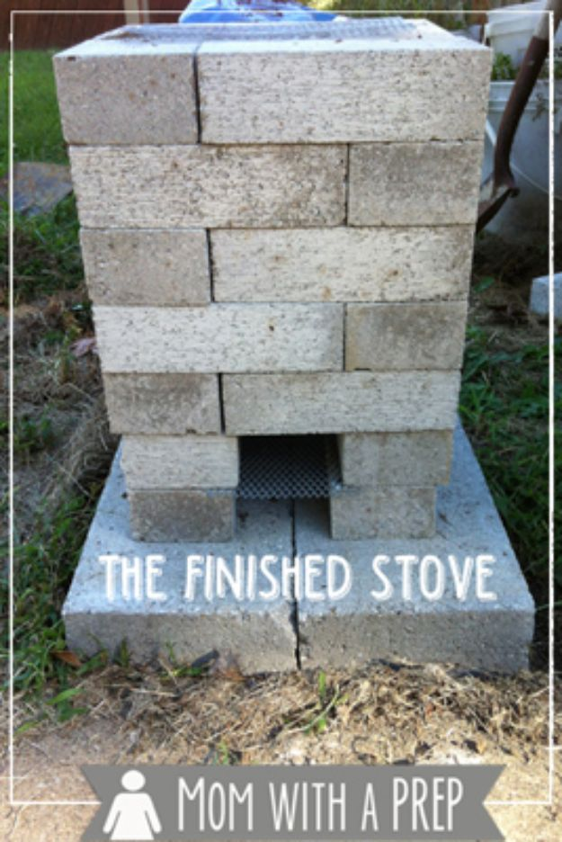 DIY Ideas With Bricks - Build A Brick Rocket Stove - Home Decor and Creative Do It Yourself Projects to Make With Bricks - Ideas for Patio, Walkway, Fireplace, Firepit, Mantle, Grill and Art - Inexpensive Decoration Tutorials With Step By Step Instruction for Brick DIY #diy #homeimprovement