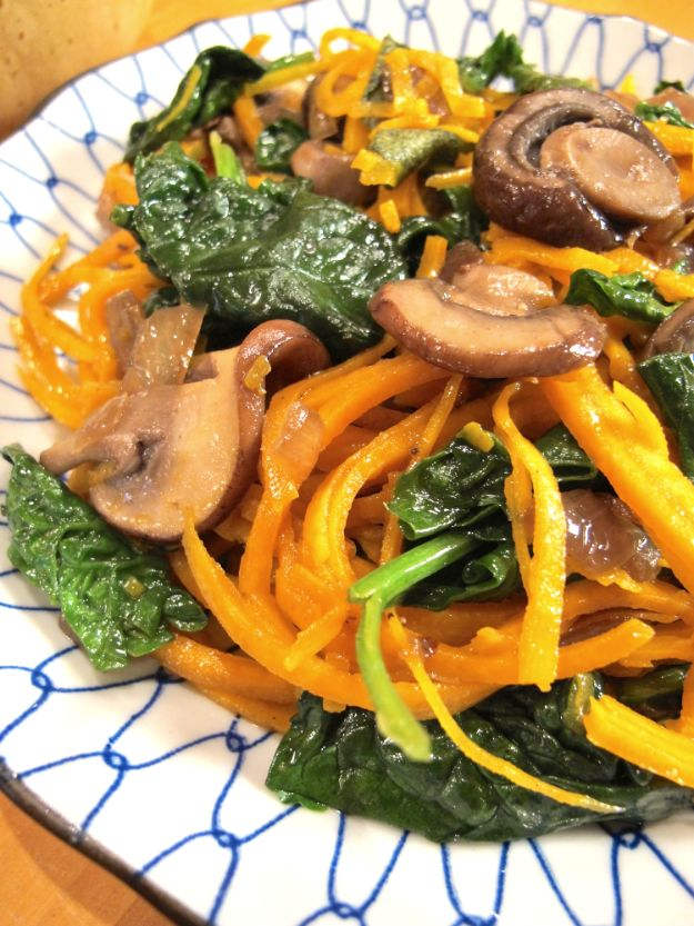 Veggie Noodle Recipes - Butternut Squash Noodles with Spinach and Mushrooms - How to Cook With Veggie Noodles - Healthy Pasta Recipe Ideas - How to Make Veggie Noodles With Carrots and Zucchini - Vegan, Vegetarian , Keto and Low Carb Dishes for Your Diet - Meatballs, Chicken, Cheese, Asian Stir Fry, Salad and Raw Preparations #veggienoodles #recipes #keto #lowcarb #ketorecipes #veggies #healthyrecipes #veganrecipes