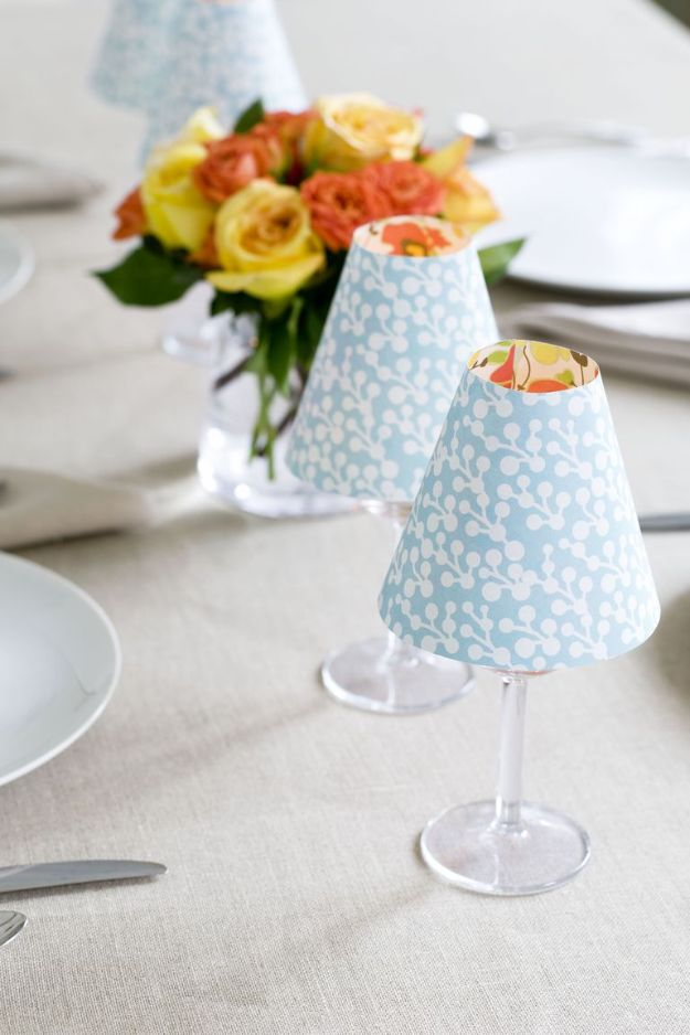 Dollar Tree Crafts - Candle Lampshade Dollar Store Craft Idea Easy - DIY Ideas and Crafts Projects From Dollar Tree Stores - Easy Organizing Project Tutorials and Home Decorations- Cheap Crafts to Make and Sell
