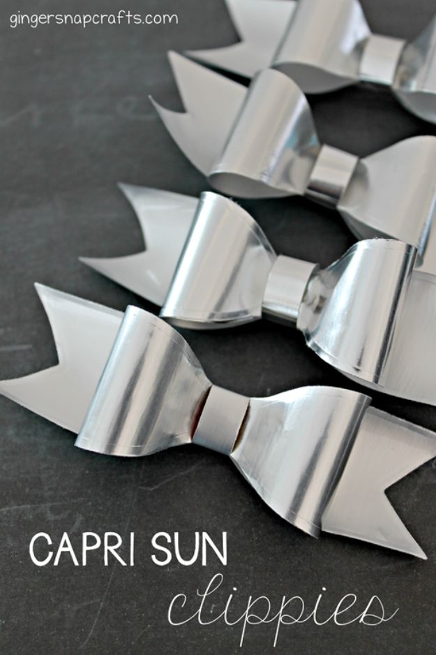Cheap DIY Gift Ideas - Capri Sun Clippies - List of Handmade Gifts on A Budget and Inexpensive Christmas Presents - Do It Yourself Gift Idea for Family and Friends, Mom and Dad, For Guys and Women, Boyfriend, Girlfriend, BFF, Kids and Teens - Dollar Store and Dollar Tree Crafts, Home Decor, Room Accessories and Fun Things to Make At Home #diygifts #christmas #giftideas #diy
