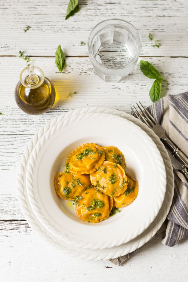 Veggie Noodle Recipes - Carrot Ravioli With Spinach Pecan Filling - How to Cook With Veggie Noodles - Healthy Pasta Recipe Ideas - How to Make Veggie Noodles With Carrots and Zucchini - Vegan, Vegetarian , Keto and Low Carb Dishes for Your Diet - Meatballs, Chicken, Cheese, Asian Stir Fry, Salad and Raw Preparations #veggienoodles #recipes #keto #lowcarb #ketorecipes http://diyjoy.com/veggie-noodle-recipes