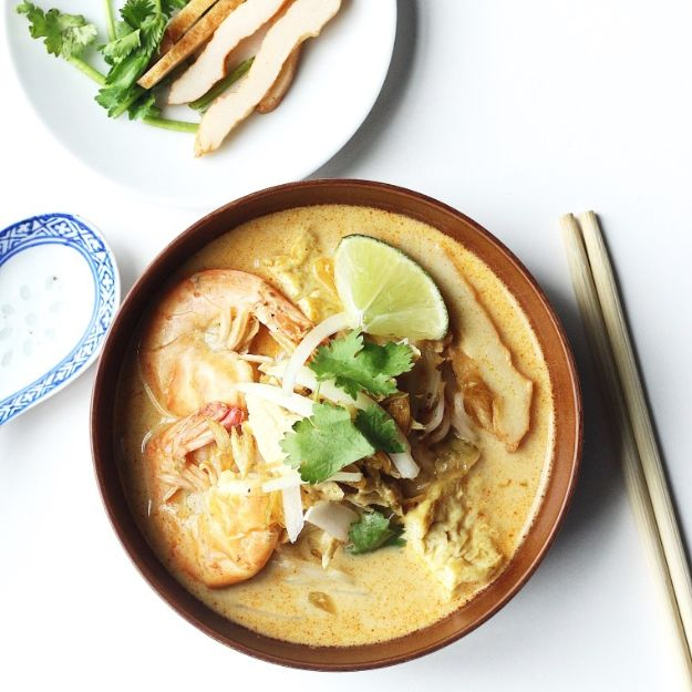 Soup Recipes - Chicken Laksa - Healthy Soups and Recipe Ideas - Easy Slow Cooker Dishes, Soup Recipe for Chicken, Sausage, With Ground Beef, Potato, Vegetarian, Mexican and Asian Varieties - Creamy Soups for Winter and Fall - Low Carb and Keto Meals - Quick Bean Soup and Copycat Recipes #soup #recipes