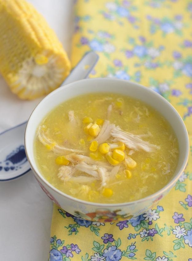 Soup Recipes - Chicken and Sweetcorn Soup - Healthy Soups and Recipe Ideas - Easy Slow Cooker Dishes, Soup Recipe for Chicken, Sausage, With Ground Beef, Potato, Vegetarian, Mexican and Asian Varieties - Creamy Soups for Winter and Fall - Low Carb and Keto Meals - Quick Bean Soup and Copycat Recipes #soup #recipes