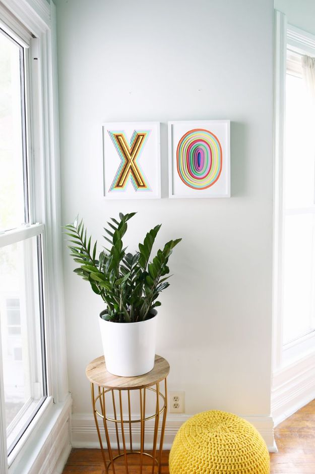 Paper Crafts DIY - Colorful Wall Art - Papercraft Tutorials and Easy Projects for Make for Decoration and Gift IDeas - Origami, Paper Flowers, Heart Decoration, Scrapbook Notions, Wall Art, Christmas Cards, Step by Step Tutorials for Crafts Made From Papers http://diyjoy.com/paper-crafts-diy