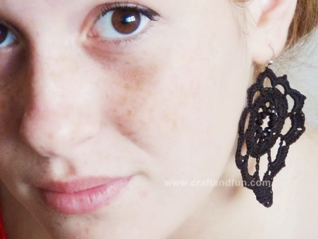 Cheap DIY Gift Ideas - Crochet Earrings - List of Handmade Gifts on A Budget and Inexpensive Christmas Presents - Do It Yourself Gift Idea for Family and Friends, Mom and Dad, For Guys and Women, Boyfriend, Girlfriend, BFF, Kids and Teens - Dollar Store and Dollar Tree Crafts, Home Decor, Room Accessories and Fun Things to Make At Home http://diyjoy.com/cheap-diy-gift-ideas