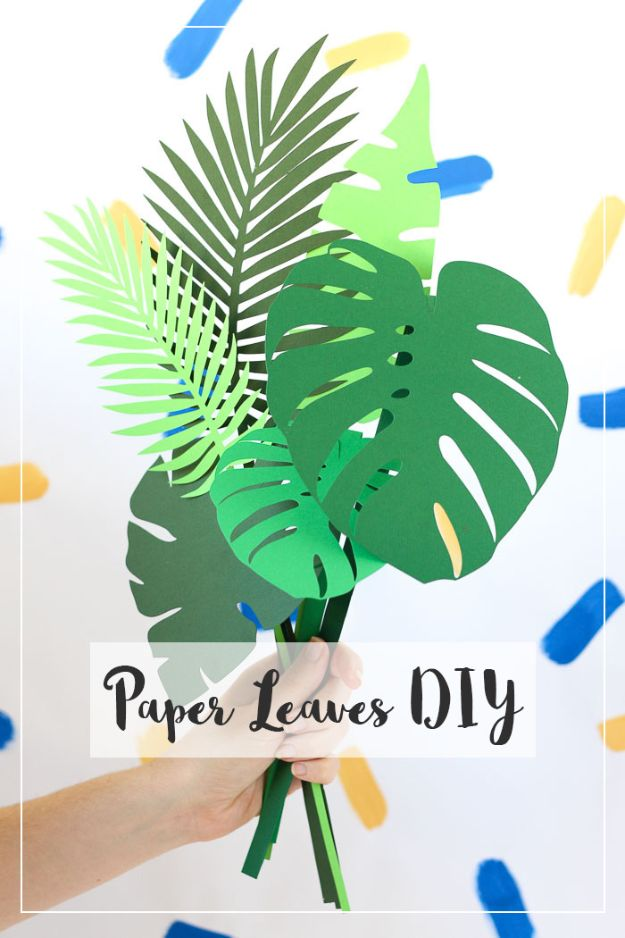 Paper Crafts DIY - DIY Botanical Paper Leaves - Papercraft Tutorials and Easy Projects for Make for Decoration and Gift IDeas - Origami, Paper Flowers, Heart Decoration, Scrapbook Notions, Wall Art, Christmas Cards, Step by Step Tutorials for Crafts Made From Papers #crafts