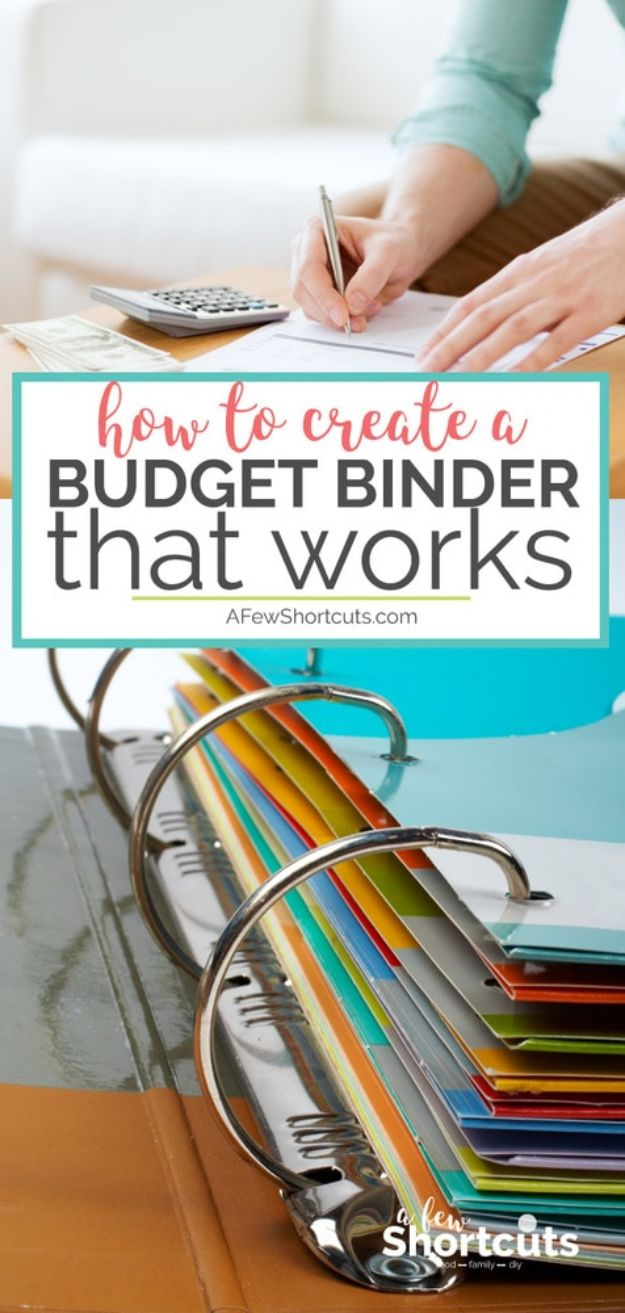Organizing Ideas for Your Life - DIY Budget Binder - Easy Crafts and Cool Ideas for Getting Organized - Best Ways to Get Organized - Things to Make for Being More Efficient and Productive - DIY Storage, Shelving, Calendars, Planning #organizing