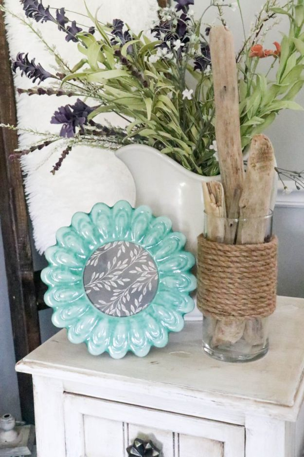 Dollar Tree Crafts - DIY Dollar Tree Rope Vase - DIY Ideas and Crafts Projects From Dollar Tree Stores - Easy Organizing Project Tutorials and Home Decorations- Cheap Crafts to Sell from Dollar Store Supplies