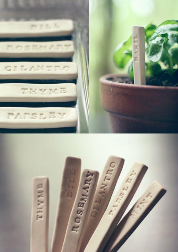 Cheap DIY Gift Ideas - DIY Garden Markers - List of Handmade Gifts on A Budget and Inexpensive Christmas Presents - Do It Yourself Gift Idea for Family and Friends, Mom and Dad, For Guys and Women, Boyfriend, Girlfriend, BFF, Kids and Teens - Dollar Store and Dollar Tree Crafts, Home Decor, Room Accessories and Fun Things to Make At Home #diygifts #christmas #giftideas #diy
