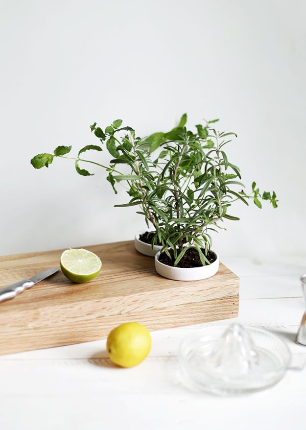 Cheap DIY Gift Ideas - DIY Herb Planter Cutting Board - List of Handmade Gifts on A Budget and Inexpensive Christmas Presents - Do It Yourself Gift Idea for Family and Friends, Mom and Dad, For Guys and Women, Boyfriend, Girlfriend, BFF, Kids and Teens - Dollar Store and Dollar Tree Crafts, Home Decor, Room Accessories and Fun Things to Make At Home http://diyjoy.com/cheap-diy-gift-ideas