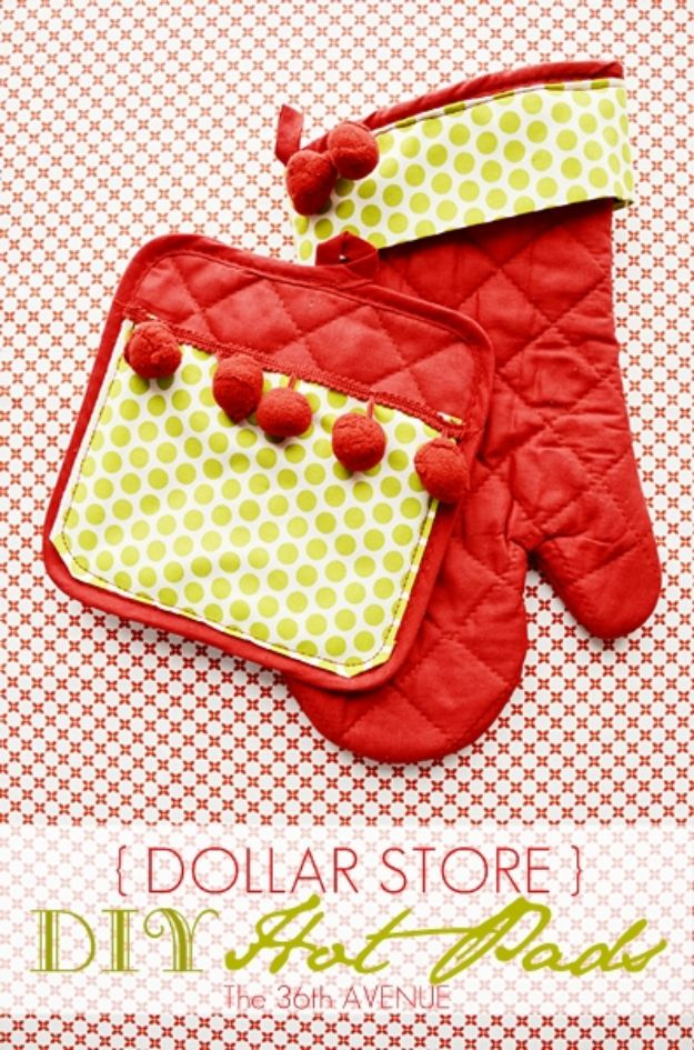 Cheap DIY Gift Ideas - DIY Hot Pads - List of Handmade Gifts on A Budget and Inexpensive Christmas Presents - Do It Yourself Gift Idea for Family and Friends, Mom and Dad, For Guys and Women, Boyfriend, Girlfriend, BFF, Kids and Teens - Dollar Store and Dollar Tree Crafts, Home Decor, Room Accessories and Fun Things to Make At Home #diygifts #christmas #giftideas #diy