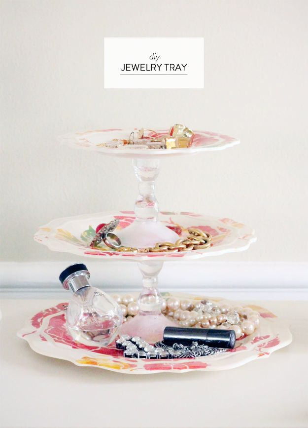 Cheap DIY Gift Ideas - DIY Jewelry Tray - List of Handmade Gifts on A Budget and Inexpensive Christmas Presents - Do It Yourself Gift Idea for Family and Friends, Mom and Dad, For Guys and Women, Boyfriend, Girlfriend, BFF, Kids and Teens - Dollar Store and Dollar Tree Crafts, Home Decor, Room Accessories and Fun Things to Make At Home #diygifts #christmas #giftideas #diy