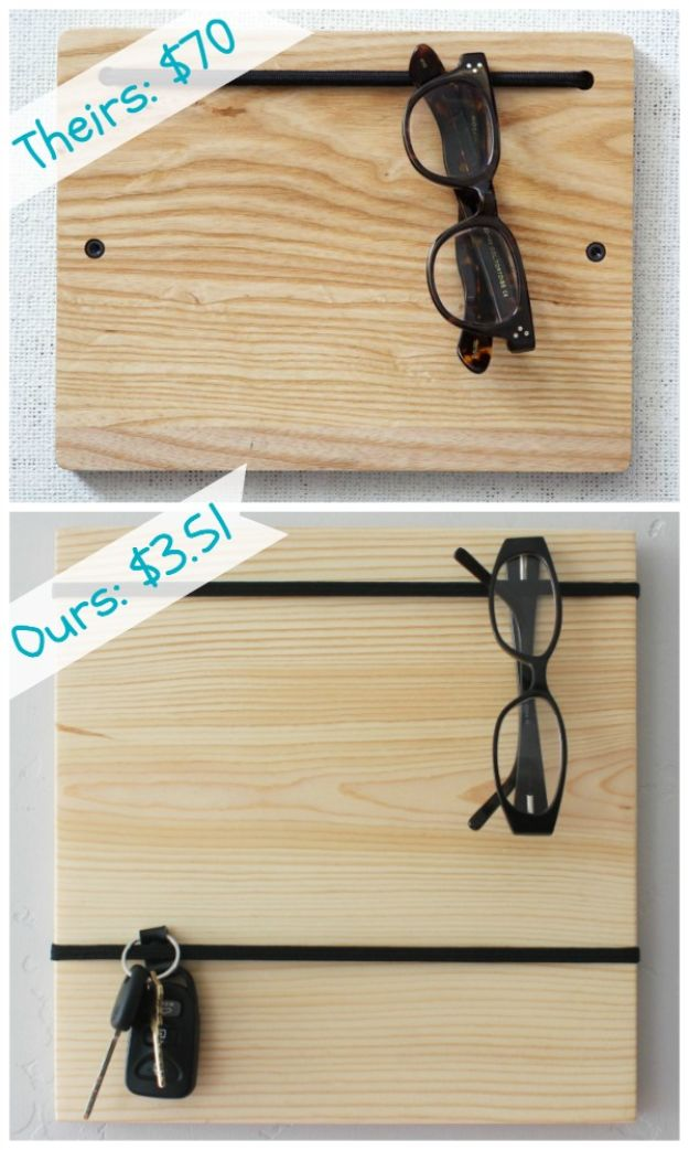 Cheap DIY Gift Ideas - DIY Organizer Board - List of Handmade Gifts on A Budget and Inexpensive Christmas Presents - Do It Yourself Gift Idea for Family and Friends, Mom and Dad, For Guys and Women, Boyfriend, Girlfriend, BFF, Kids and Teens - Dollar Store and Dollar Tree Crafts, Home Decor, Room Accessories and Fun Things to Make At Home #diygifts #christmas #giftideas #diy