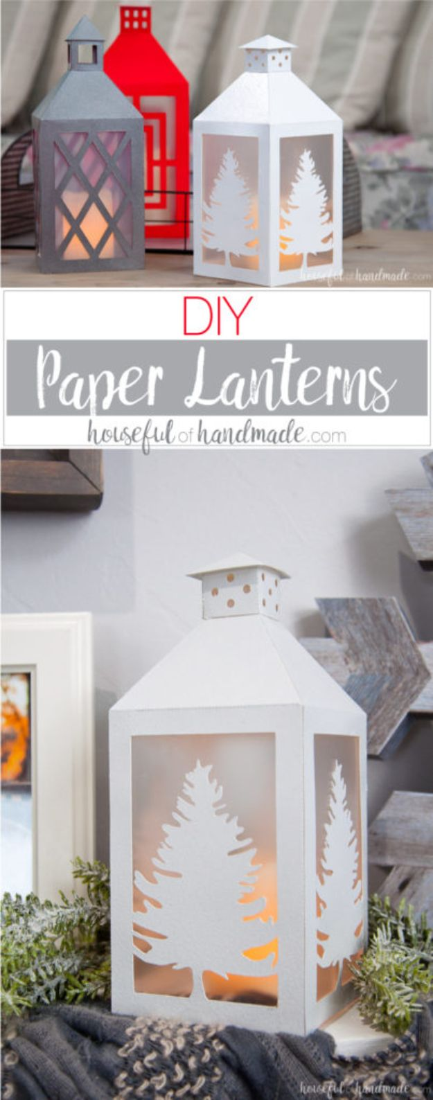 Paper Crafts DIY - DIY Paper Lanterns - Papercraft Tutorials and Easy Projects for Make for Decoration and Gift IDeas - Origami, Paper Flowers, Heart Decoration, Scrapbook Notions, Wall Art, Christmas Cards, Step by Step Tutorials for Crafts Made From Papers  #crafts