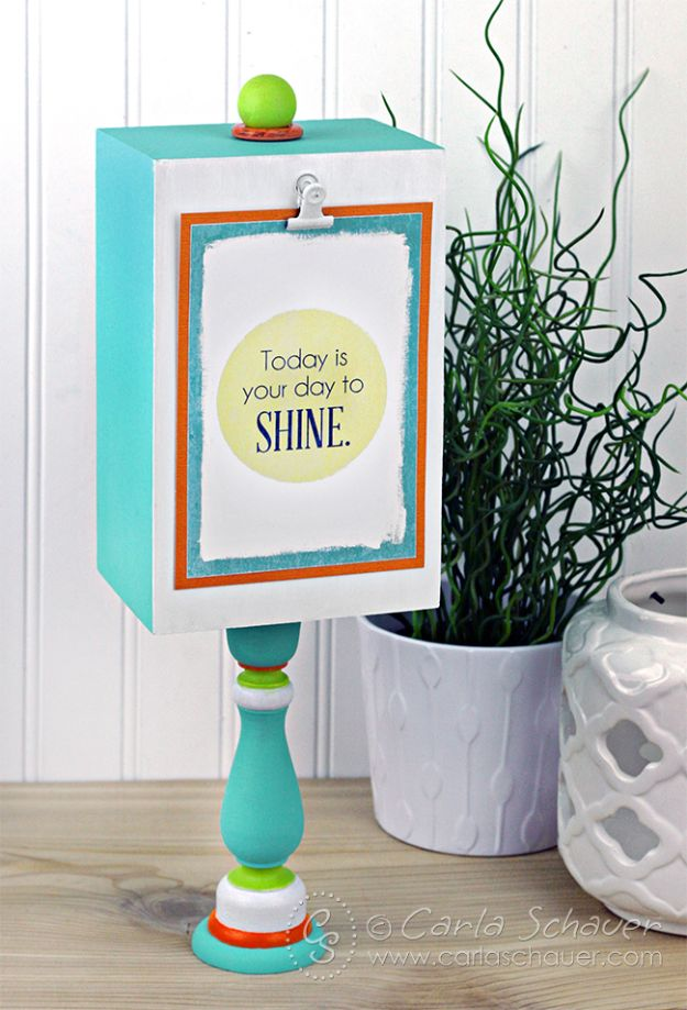 Cheap DIY Gift Ideas - DIY Photo Display Stand - List of Handmade Gifts on A Budget and Inexpensive Christmas Presents - Do It Yourself Gift Idea for Family and Friends, Mom and Dad, For Guys and Women, Boyfriend, Girlfriend, BFF, Kids and Teens - Dollar Store and Dollar Tree Crafts, Home Decor, Room Accessories and Fun Things to Make At Home http://diyjoy.com/cheap-diy-gift-ideas