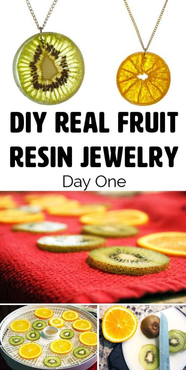 DIY Resin Casting Crafts - DIY Resin Fruit Jewelry - Homemade Resin and Epoxy Craft Projects and Ideas - How to Make Resin Jewelry - Use Silicon Molds to Make Paper Weights, Creative Christmas Ornaments and Crafts to Make and Sell - Flowers, Pictures, Clocks, Tabletop, Inspiration for Handmade Jewelry and Items to Sell on Etsy #crafts