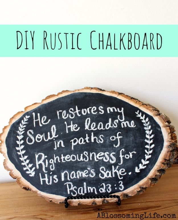 DIY Home Decor On A Budget - DIY Rustic Wood Chalkboard - Cheap Home Decorations to Make From The Dollar Store and Dollar Tree - Inexpensive Budget Friendly Wall Art, Furniture, Table Accents, Rugs, Pillows, Bedding and Chairs - Candles, Crafts To Make for Your Bedroom, Pretty Signs and Art, Linens, Storage and Organizing Ideas for Apartments #diydecor #decoratingideas #cheaphomedecor