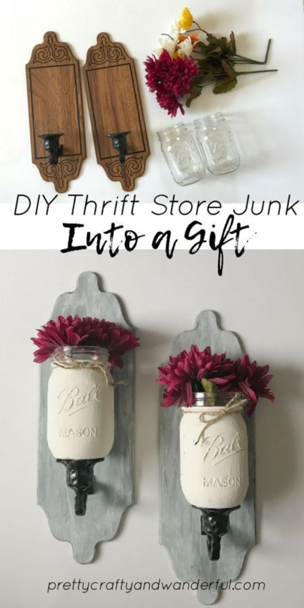 Thrift Store DIY Makeovers - DIY Thrift Store Junk Into A Gift - Decor and Furniture With Upcycling Projects and Tutorials - Room Decor Ideas on A Budget - Crafts and Decor to Make and Sell - Before and After Photos - Farmhouse, Outdoor, Bedroom, Kitchen, Living Room and Dining Room Furniture http://diyjoy.com/thrift-store-makeovers